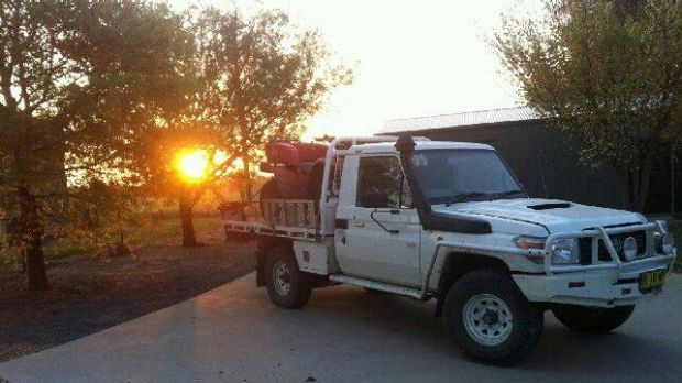 Police believe Mark and Gino Stocco have stolen this Toyota Landcruiser