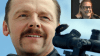 Taking aim: Simon Pegg plays a hitman in a new action-comedy by Kriv Stenders (inset).