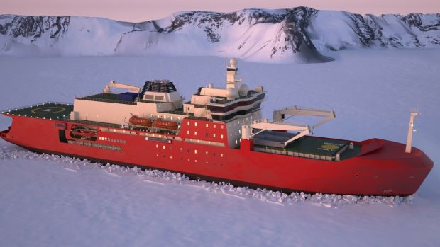 An artist's impression of Australia's new icebreaker.