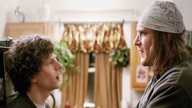 Odd couple: Jesse Eisenberg and Jason Segel spark off each other in the two-hander The End of the Tour.
