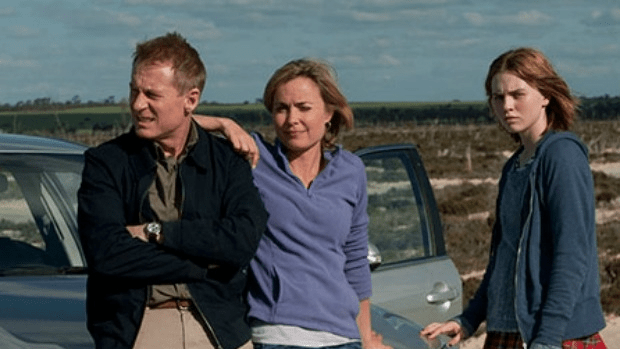 Family matters: Richard Roxburgh, Radha Mitchell and Odessa Young work through issues in Looking for Grace.