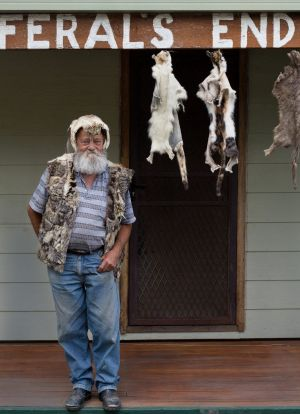 Bob Green at the entrance to his aptly named home on Kangaroo Island.