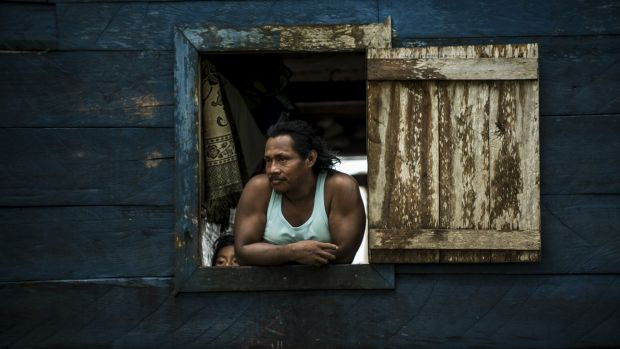 A resident of Bangkukuk Taik, Nicaragua, home to the Rama people. The proposed canal would reach the Caribbean coast by ...