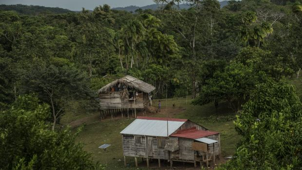 The village of Bangkukuk Taik along the Caribbean coast of Nicaragua, near the planned eastern opening of Chinese ...