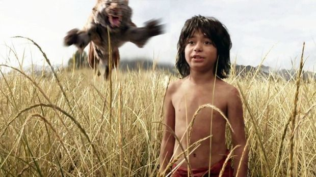 Behind you, kid: Mowgli (Neel Sethi) gets a wake up call in the latest remake of The Jungle Book.