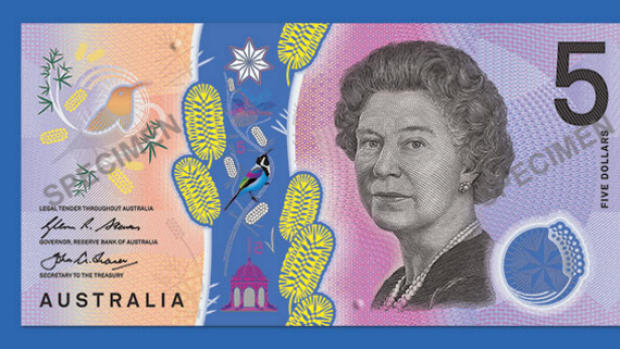 The new 5-dollar note revealed.