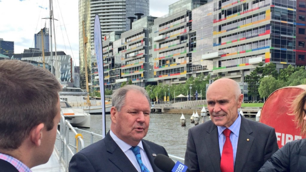 Lord Mayor Robert Doyle at the launch of Melbourne