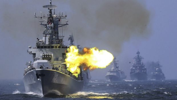 Image result for china, russia naval exercise, photos