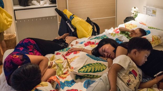 At Ikea's 21 stores in China, shoppers (and those simply looking for climate-controlled shut-eye) have no qualms about ...