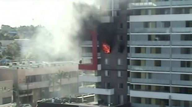 The fatal blaze in a Bankstown apartment block in September 2012.