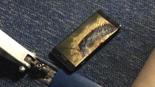 A US plane was evacuated last week after a Note7 caught fire.