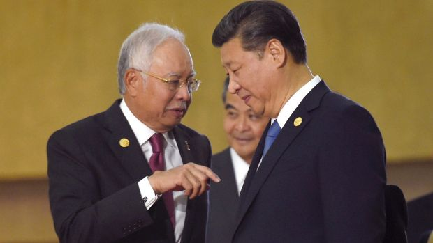 Image result for China's Xi and Najib Razak