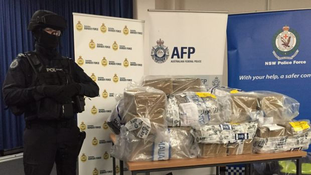 The cocaine seized by police.