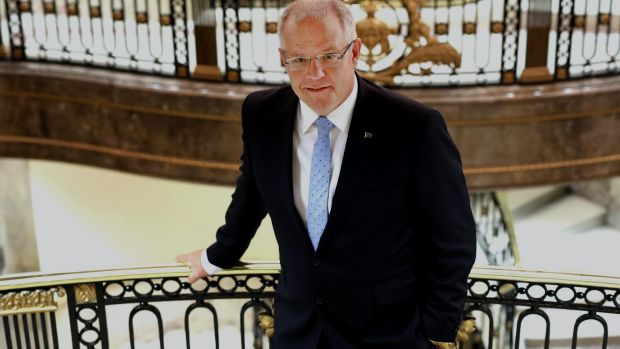 Treasurer Scott Morrison, pictured in London this week, says the government is making progress in reining in Australia's ...
