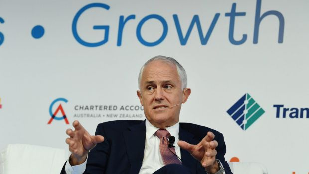 The Honorable Malcolm Turnbull MP, Prime Minister speaking at the Australian Financial Review Business Summit, at the ...