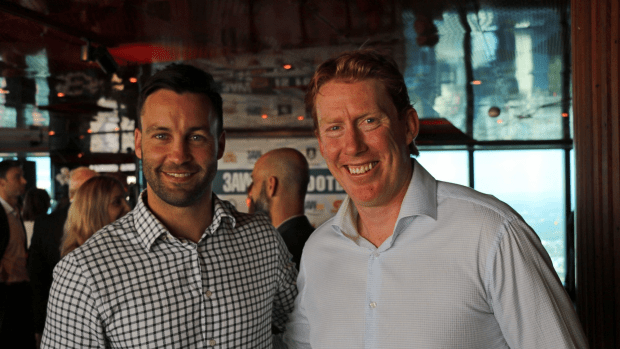 Jimmy Bartell and Cameron Ling at 3AW Football