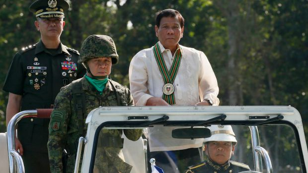 Philippine President Rodrigo Duterte now wants his armed forces to build permanent facilities on islands in the South ...