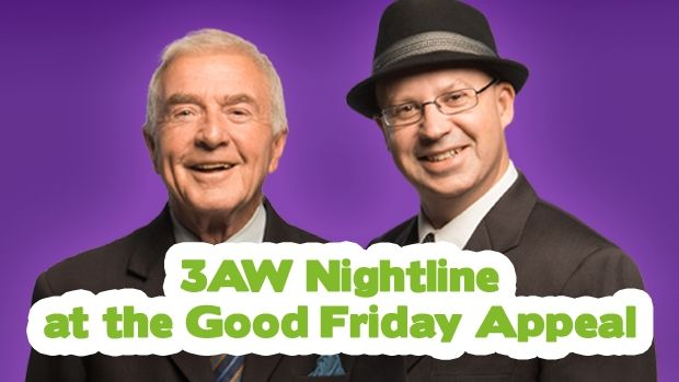 Join Phil and Simon from 7.30pm for the Good Friday Appeal.