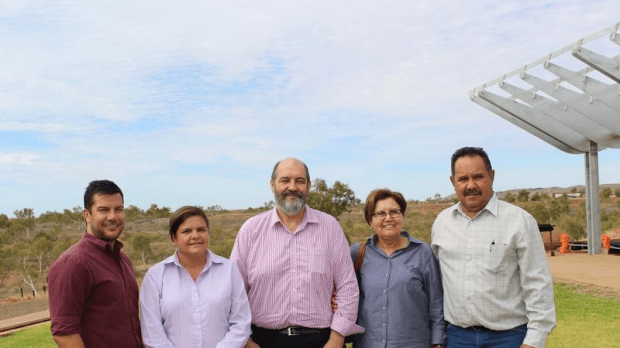 Grahame Searle (centre) with Pilbara reform stakeholders.