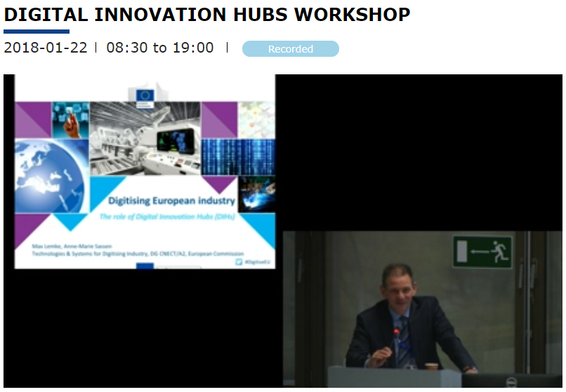 Digital Innovation Hubs 1st Working Group meeting 22 January 2018