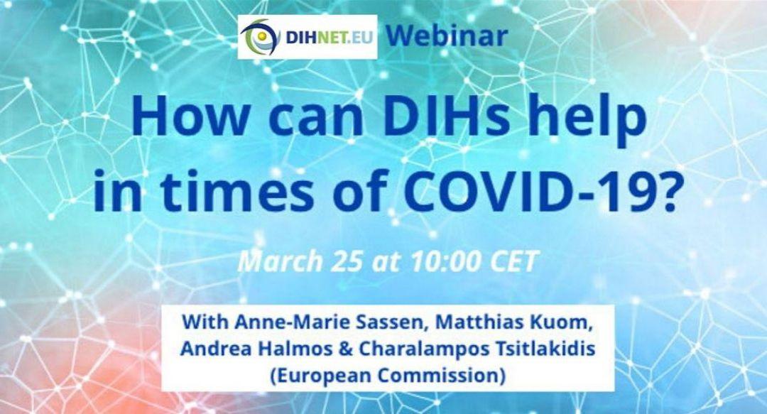 """Webinar DIHNET: """"In che modo gli Hub dell'innovazione digitale possono aiutare in tempi di COVID-19?"""""""