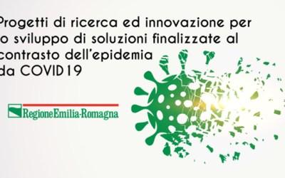 """Bando Regione Emilia-Romagna per """"Progetti di ricerca e innovazione per lo sviluppo di soluzioni finalizzate al contrasto dell'epidemia da Covid-19"""""""