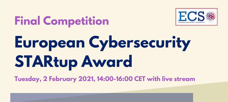 European Cybersecurity STARtup Award Final Competition – evento online il 2 febbraio 2021, ore 14:00 – 16:00