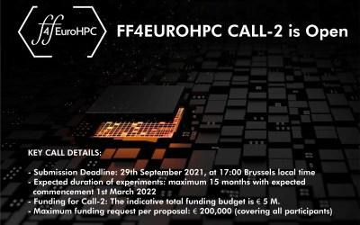 FF4EuroHPC – Seconda open call HPC a supporto delle PMI che vogliano sperimentare l'accesso a risorse di calcolo ad alte prestazioni
