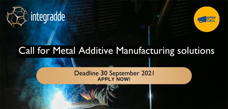 Manifattura digitale: nuovo bando di INTEGRADDE per soluzioni di Metal Additive Manufacturing – Scadenza 30 settembre 2021