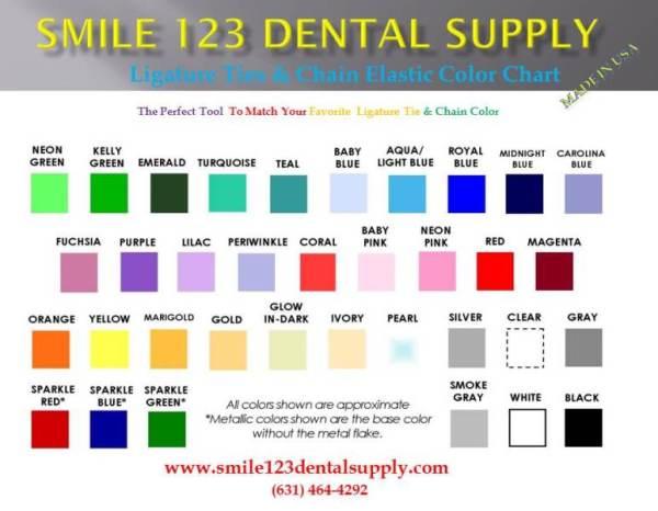 Smile123Dent Elastic Color Chart