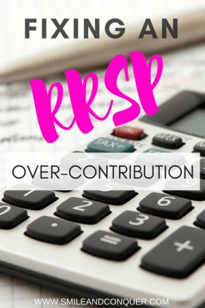 What to do about an RRSP Over-Contribution