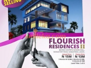 FLOURISH RESIDENCY 2 NOW SELLING OFF MONASTERY ROAD FOR 13M PER PLOT WITH C OF O