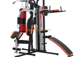 Multi gym body builder with punching bag