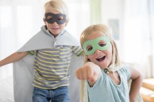 Two child super heroes braces hendersonville