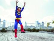 super kid jumping that needs braces