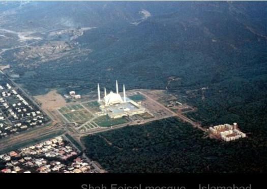 Shah Feisal mosque... Islamabad .. Pakistan. Inside hall capacity ..35,000 outside overflow capacity.. 150,000