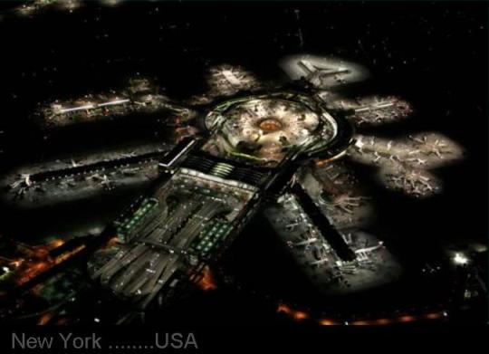 BUSIEST   AIRPORT..... NEW YORK  Night view