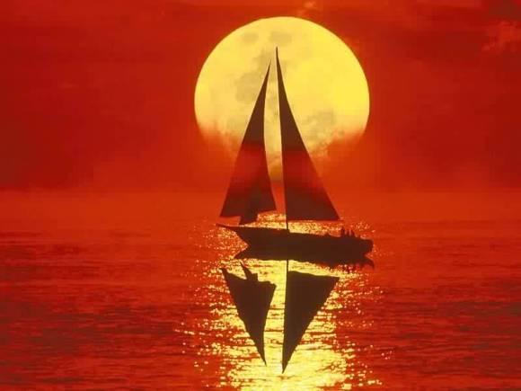 Beautiful Sunset in Sea