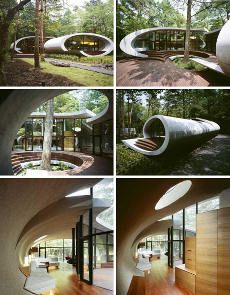 Ultramodern Spiral Shell Home