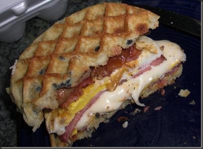 Blueberry Waffle Breakfast Sandwich