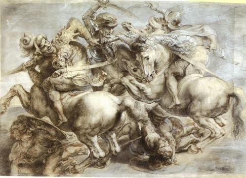 Peter Paul Ruben's copy of the lost Battle of Anghiari, c. 1603