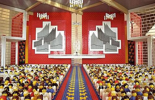 Amy Hughes' LEGO Church