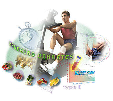 Regular exercises brings blood sugar levels in normal range