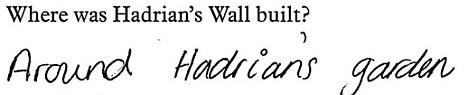 Where was Hadrian's Wall built?