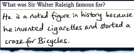 What was Sir Walter Raleigh famous for?