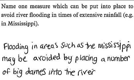 Name one measure which can be put into place to avoid river flooding in times of extensive rainfall (e.g. in Mississippi).