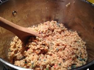 Cake Batter Rice Krispie Treats - 10