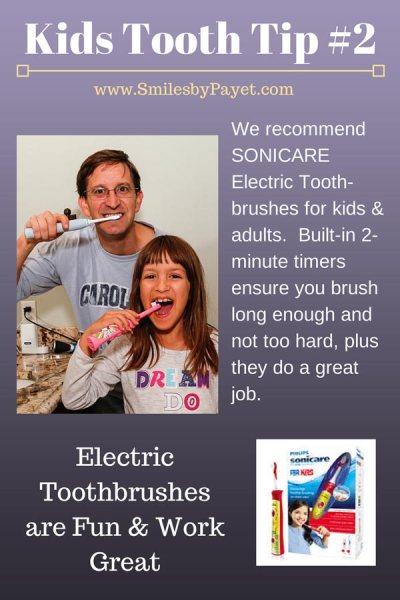 Dental care tips for kids by Charlotte NC family dentist Dr. Payet