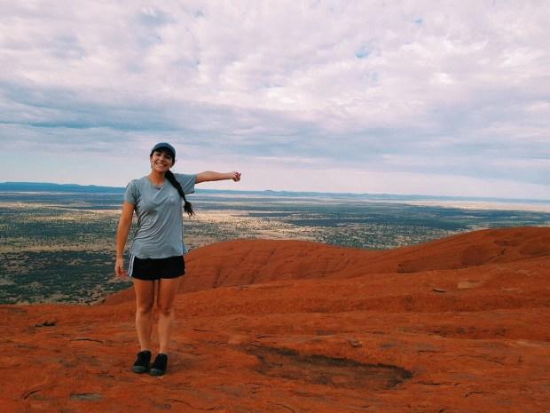 At the top of Uluru