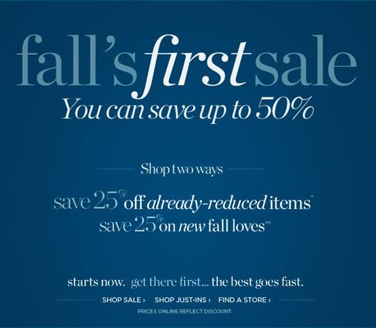 Talbots sale email design